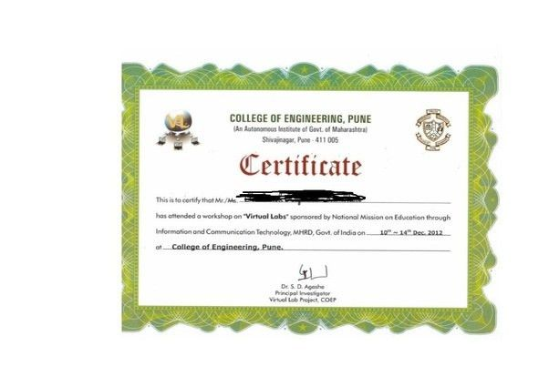 What does the certificate of COEP look like? - Quora