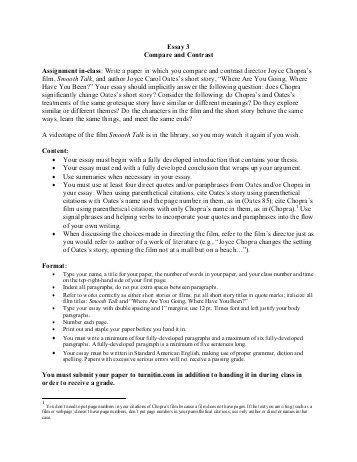 comparison essay