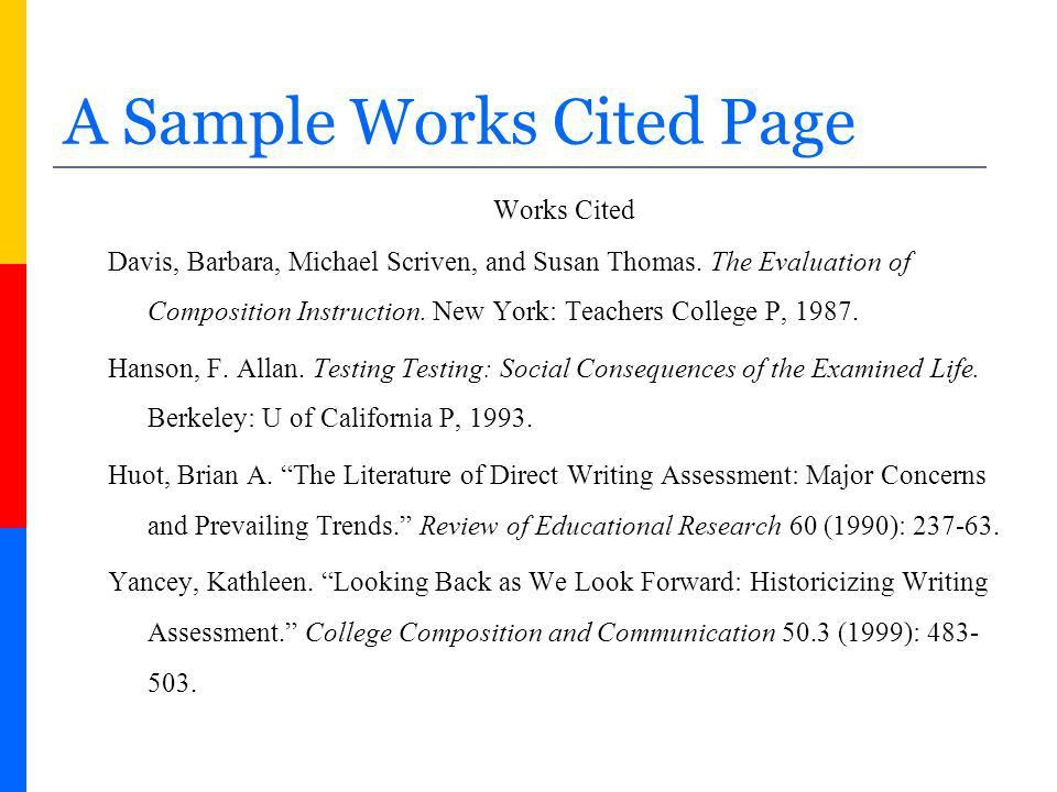 How to Create a Works Cited page in MLA Format - ppt video online ...