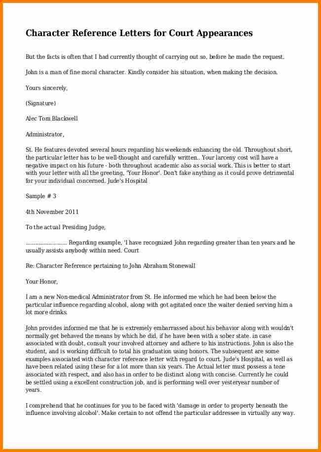 11+ character reference letter for court template | resume reference