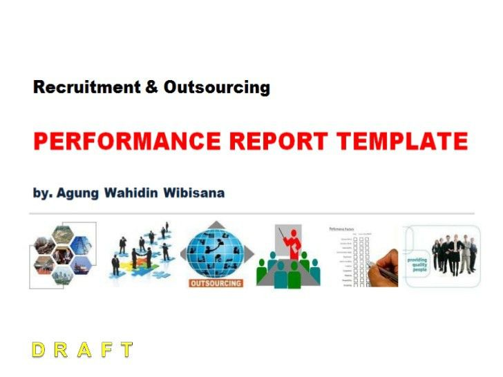 Recruitment & Outsourcing Performance Report Template