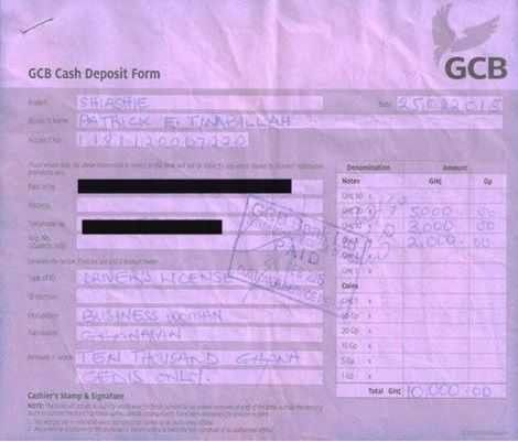 COP Timbillah Interdiction: GCB Pay In Slips, Text Messages Pop Up ...