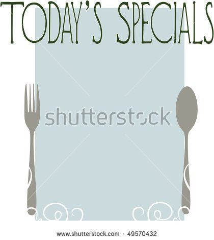 Blank Menu Template Todays Specials Stock Illustration 49570432 ...