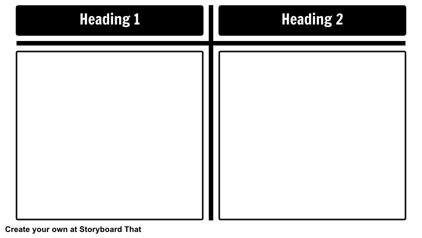 T-Charts - Blank Storyboard by anna-warfield
