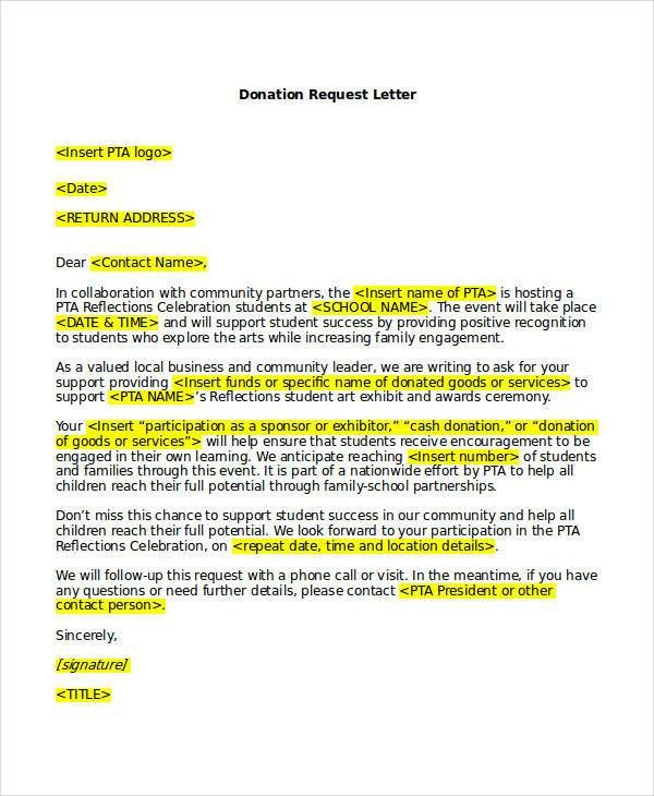 Request Letter Templates - 9+ Free Sample, Example Format Download ...