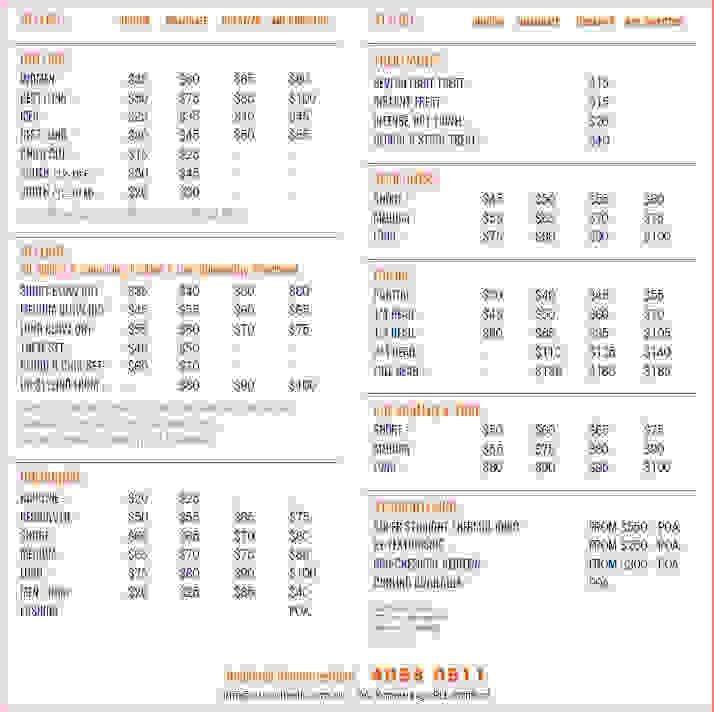 7+ wedding price list | Procedure Template Sample