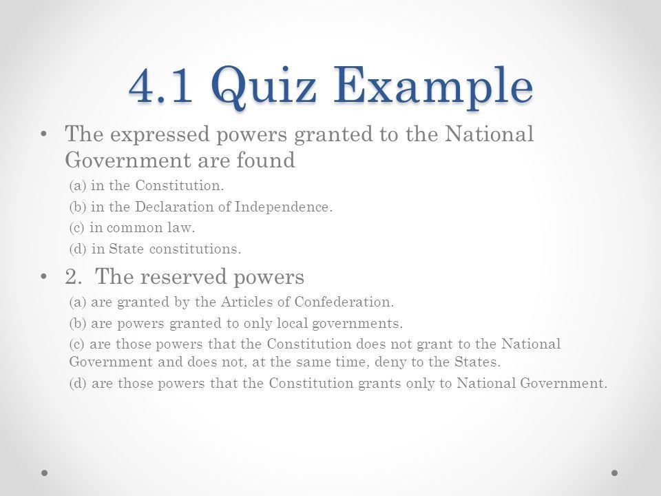 Federalism: The Division of Power - ppt download