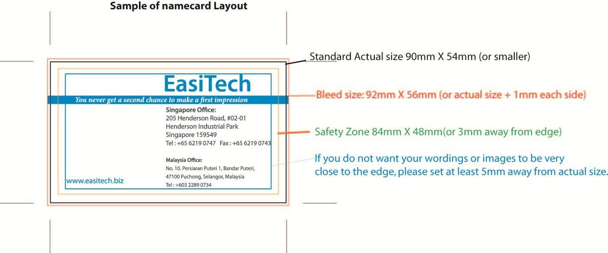 EasiTech - Product Details, 100pcs Name Card Printing only SGD ...