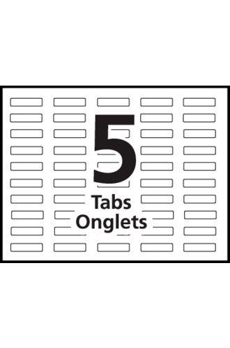 Avery® Big Tab™ Index Maker Easy Apply™ Dividers 5-Tab - 11490 ...