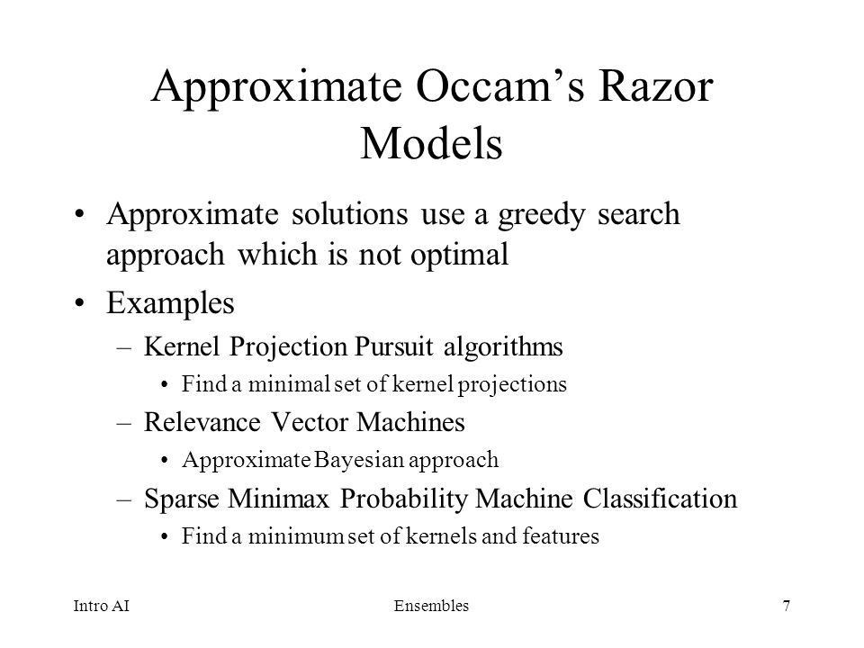 Sparse vs. Ensemble Approaches to Supervised Learning - ppt download