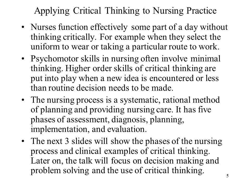 Critical Thinking And The Nursing Process Dr. Belal Hijji, RN, PhD ...