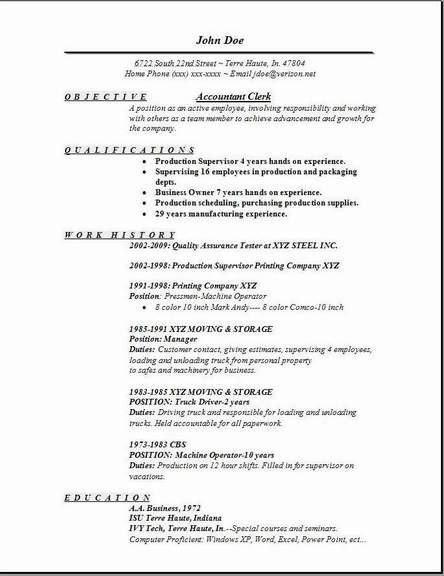 file clerk resume