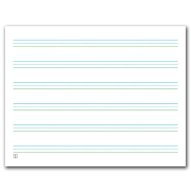 "Three-Lined Handwriting Paper and bonus ""Line Picker"" 