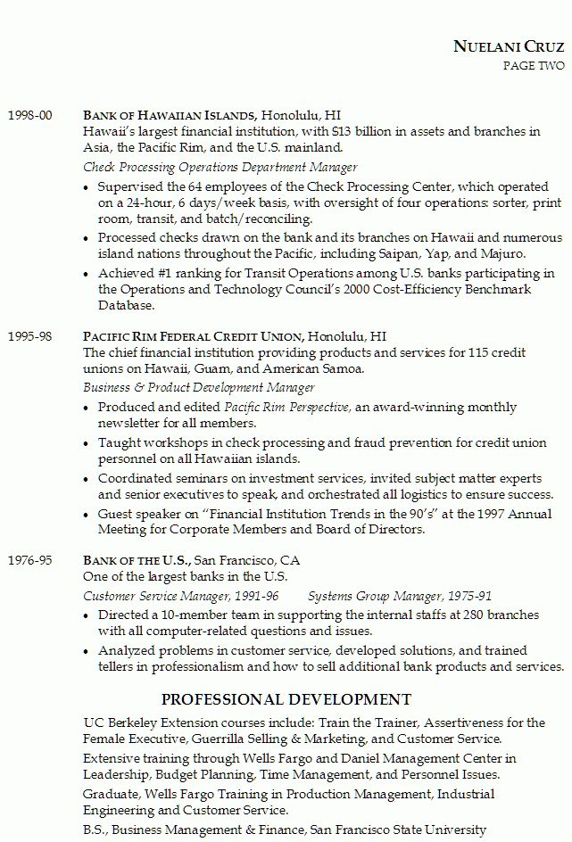 resume for senior position in financial services susan ireland - Financial Resume Example