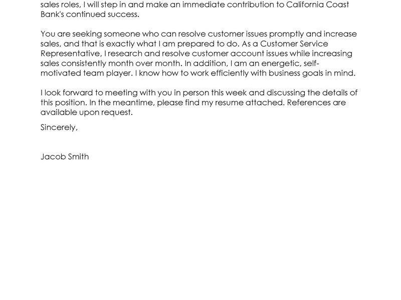 Strikingly Ideas Customer Service Representative Cover Letter 6 ...