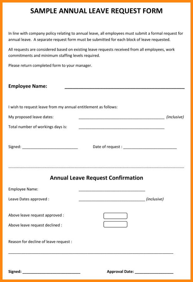5+ annual leave form sample | driver-resume