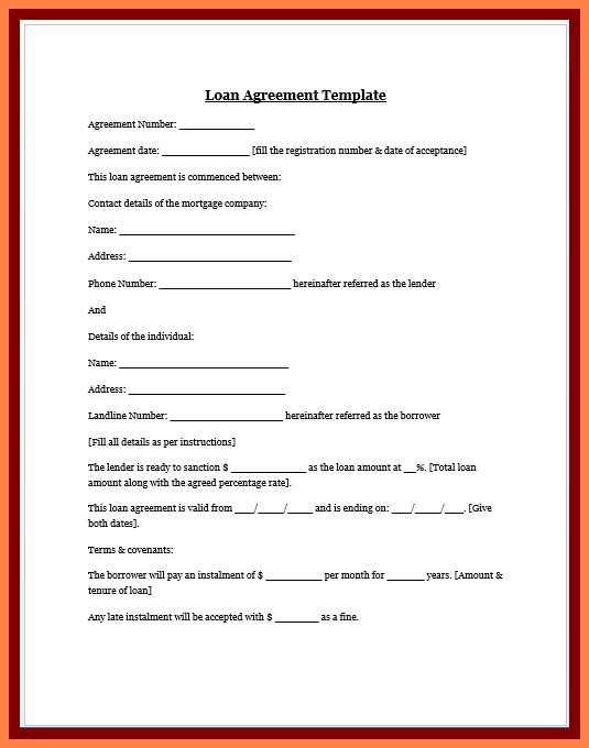 4+ personal loan agreement template between friends | Purchase ...