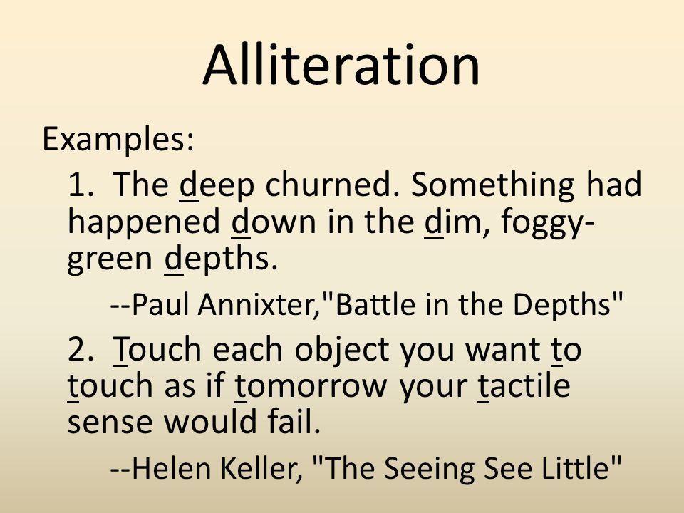 ALLITERATION EXAMPLES - alisen berde