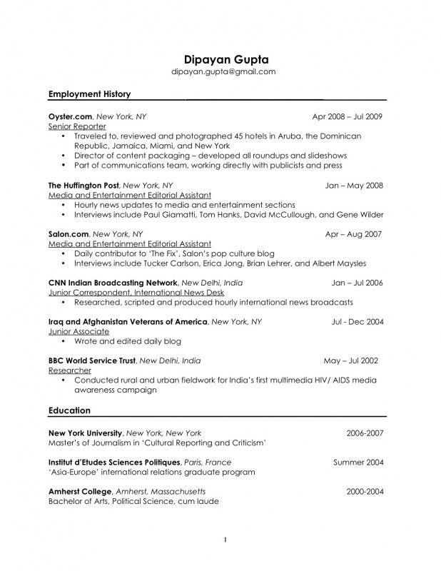 Resume Interests Examples - CV Resume Ideas