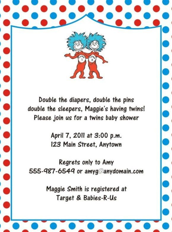 Dr. Seuss Baby Shower Invitation template | Invitations Online