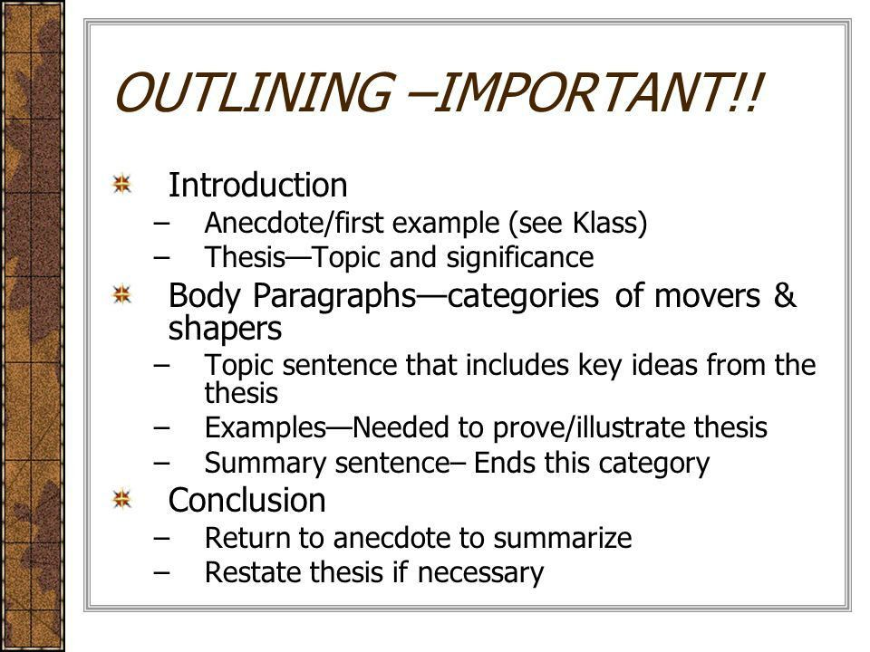 The Illustration/Example Essay Language. Movers and Shapers. - ppt ...