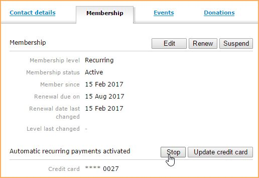 Recurring payments - Online help - Wild Apricot help