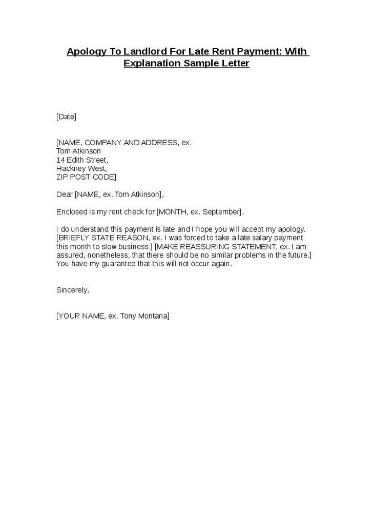 Sample Business Apology Letter For Late Payment | The Best Letter ...