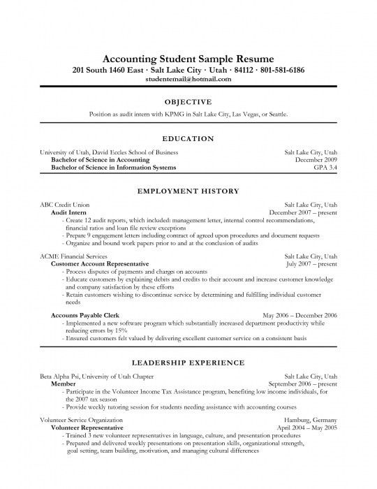 accounting resume sample. entry level sample resume entry level ...