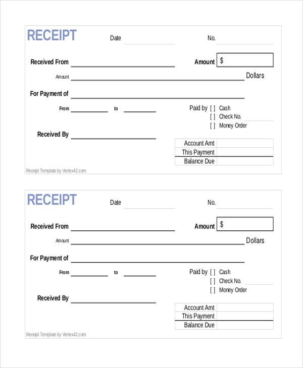 Sample Payment Receipt Forms - 8+ Free Documents in Word, PDF, Excel