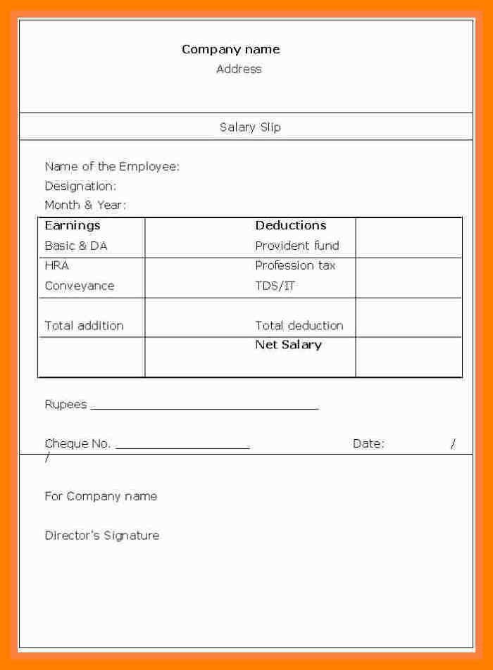 Stunning Payslip In Word Format Ideas - Best Resume Examples for ...