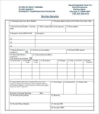 Blank Invoice Template - 9+ Free Sample, Example, Format | Free ...