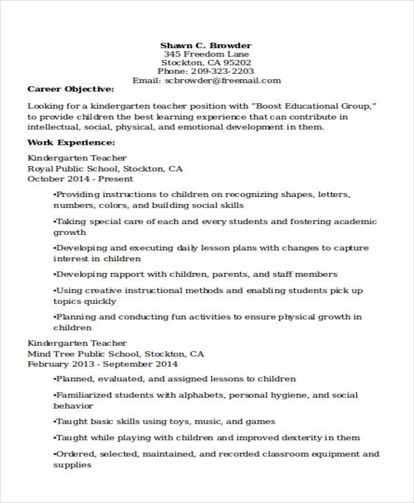 25+ Teacher Resume Formats | Free & Premium Templates