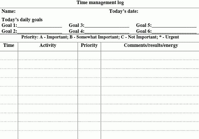5 Free Time Management Forms