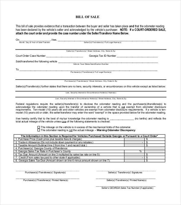Bill of Sale Template Word to Use and How to Use the Document