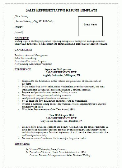 medical sales representative resume livecareercom resume format