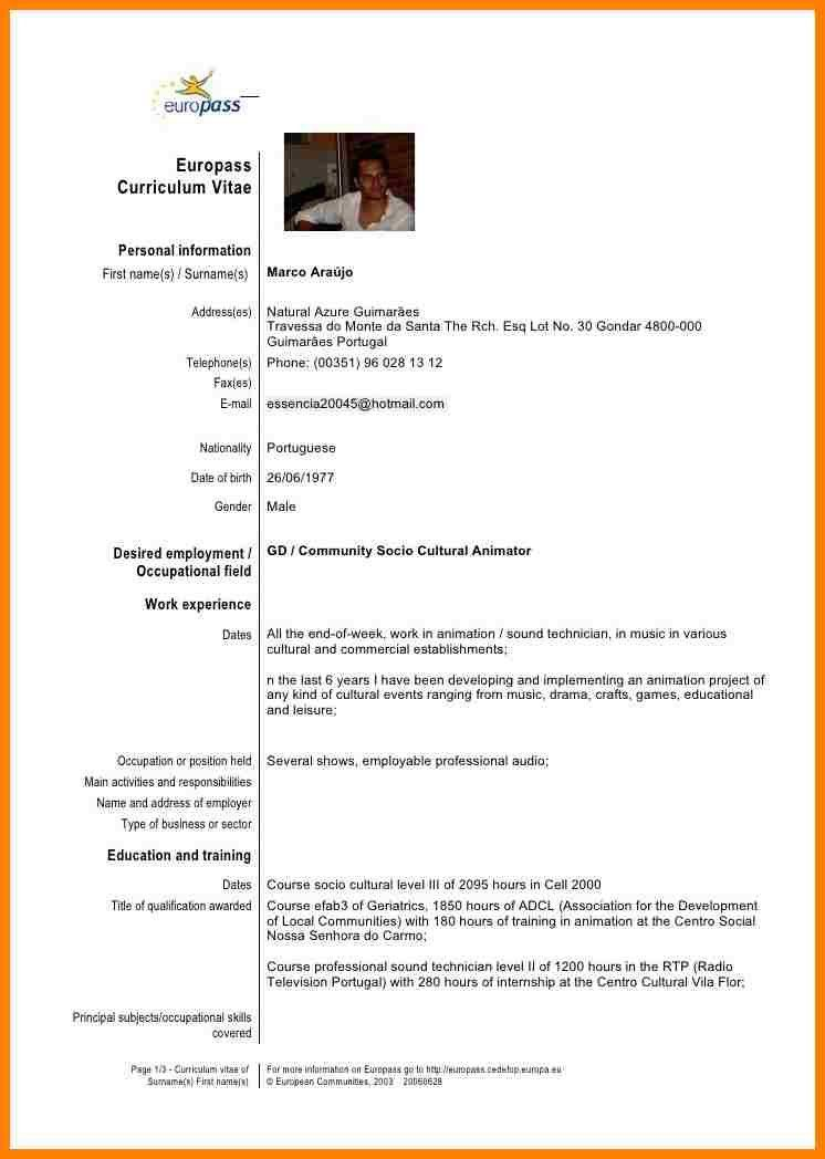 template cv europass engleza gallery certificate design and template