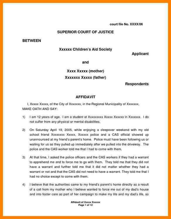9+ affidavit letter | portfolio covers