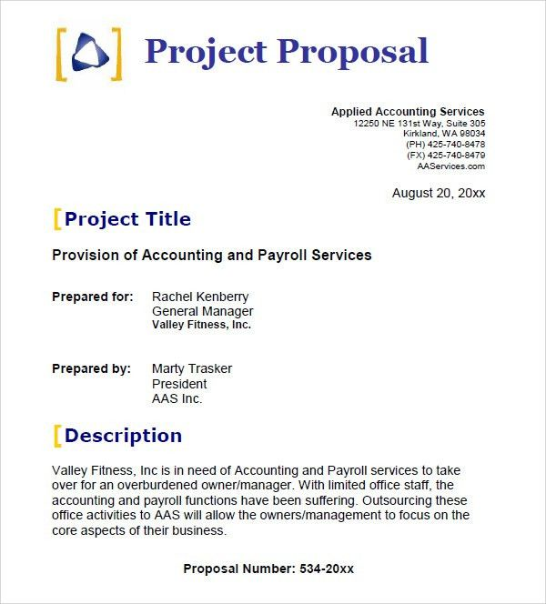 writing a project proposal template