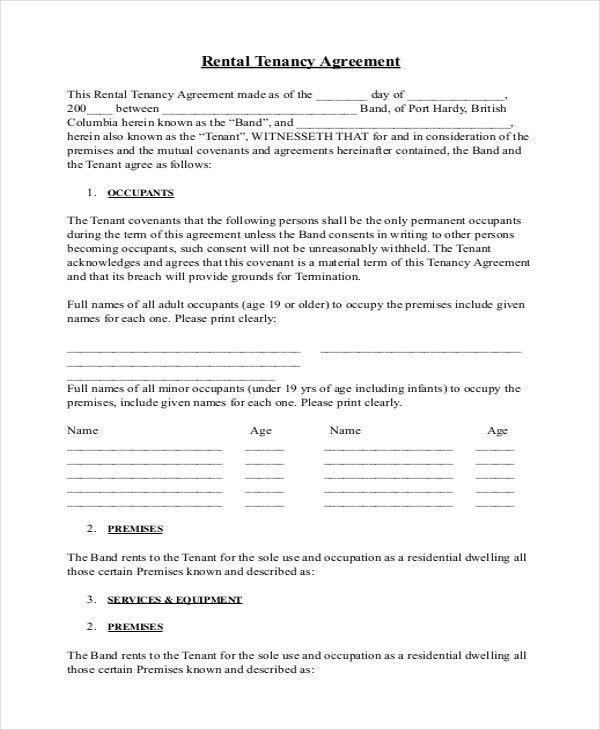Simple Rental Agreement - 34+ Examples in PDF, Word | Free ...