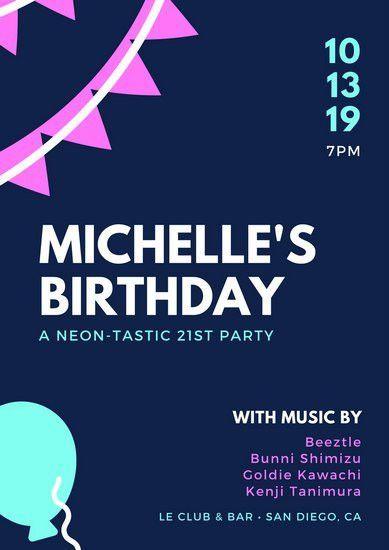 Birthday Poster Templates - Canva