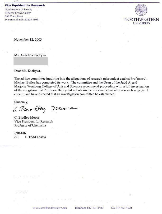 Northwestern University then announces that it will convene a full ...