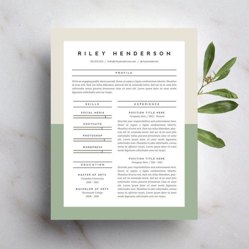 15 Beautiful Resumes You Can Buy on Etsy | Taryn Williford