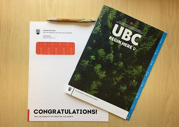 Offers of admission sent via mail or courier - UBC | Undergraduate ...