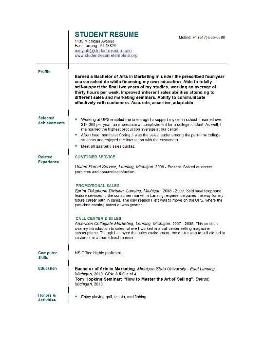 Resume Examples | Example of Resume by EasyJob | The Best Free ...