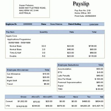 Salary Slip Template Archives - Word Templates