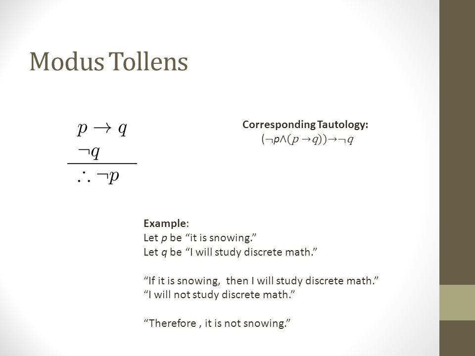 Rules of Inference Section 1.6. Arguments in Propositional Logic A ...