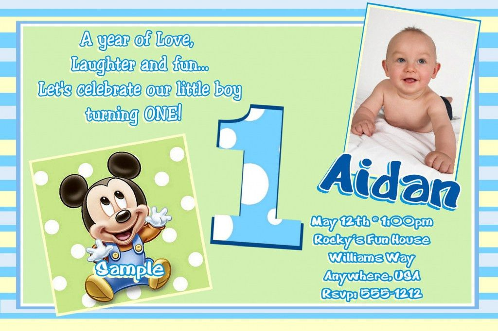 Sample Invitation For 1st Birthday Party - iidaemilia.Com