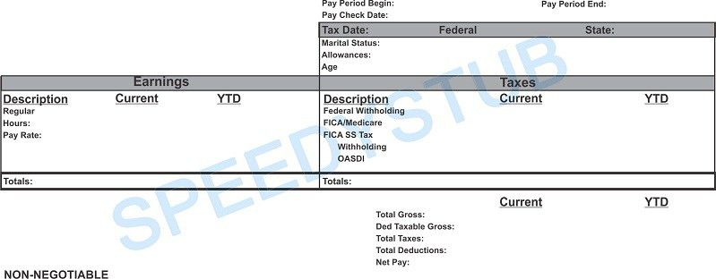 Paycheck Stubs, Employment Verification, Check Stubs & Proof of Income