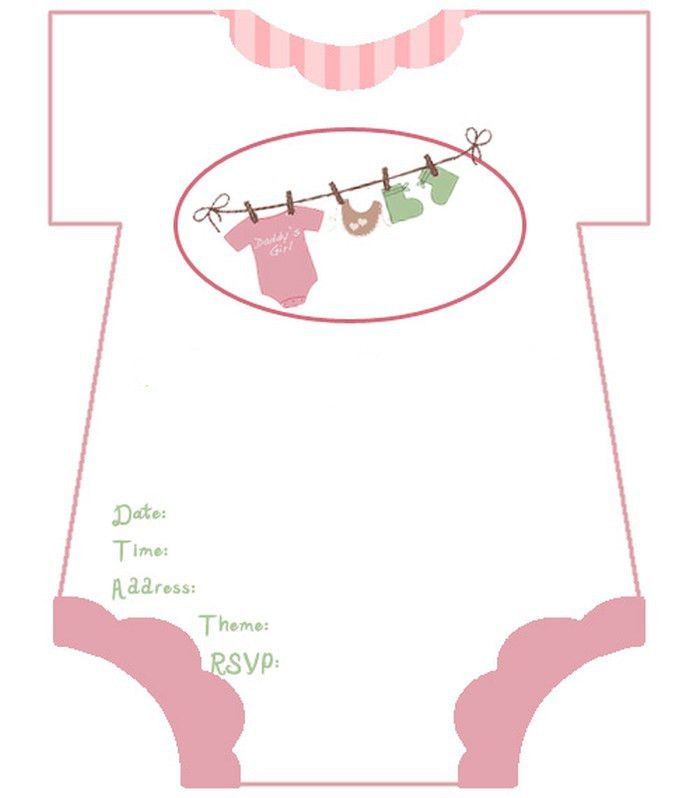 diaper baby shower invitation template for girl   Invitations Online