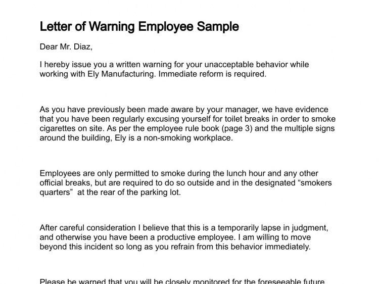 Letter of Warning